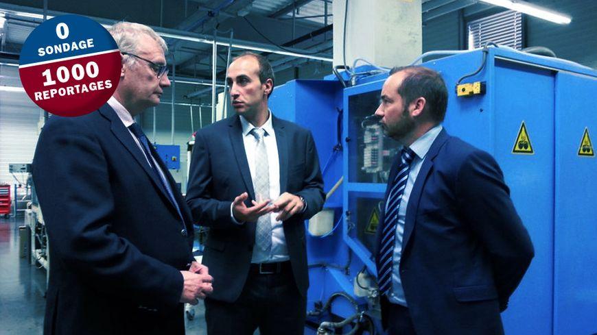 Visite de l'atelier bisontin pour Olivier Galtié, directeur de développement et production chez Mauboussin.
