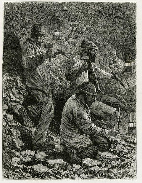 Des mineurs de charbon en Belgique