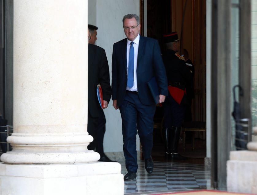 Richard Ferrand quittant le conseil des ministres le 31 mai 2017