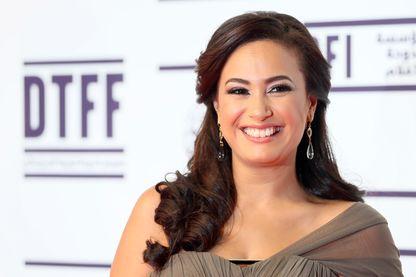 """L'actrice tunisienne Hend Sabry, héroïne de la série """"La douceur de la vie"""", succés de la chaîne CBC en Égypte. Ici en 2012 au Doha Tribeca Film Festival"""