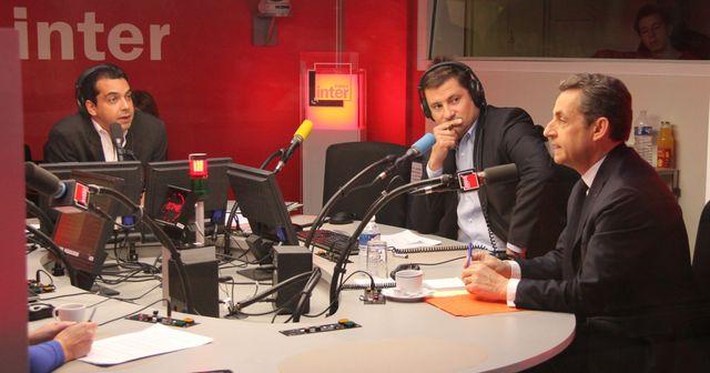 Patrick Cohen, Philippe Lefebure et Nicolas Sarkozy