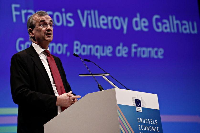 François Villeroy de Galhau, gouverneur de la Banque de France à Bruxelles