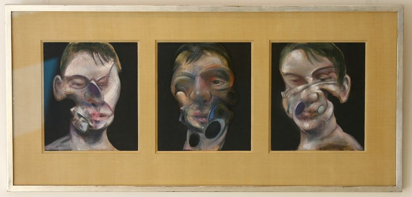 Autoportraits de Francis Bacon intitulés : 'Three Studies of a Self Portrait'