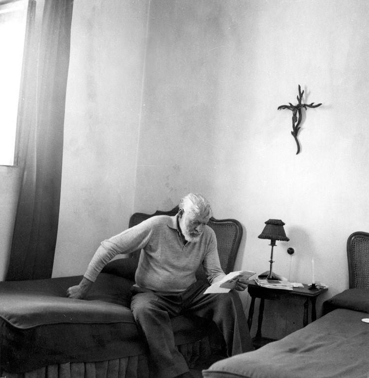 Ertnest Hemingway en Espagne en 1959