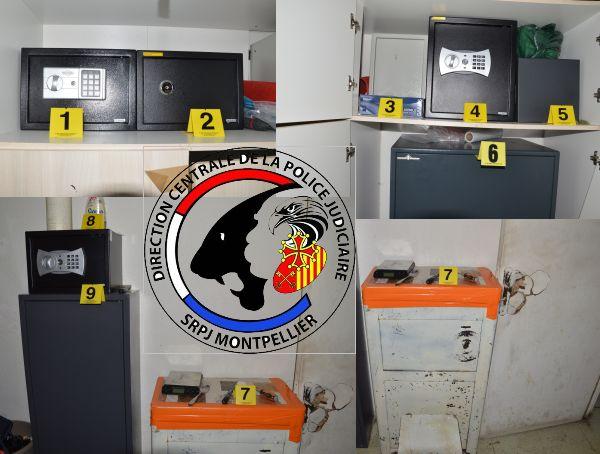 Les armes, l'argent et la drogue étaient cachés dans 11 coffres-forts