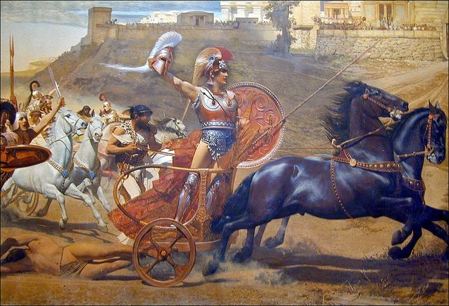 Le triomphe d'Achille peint par Franz Matsch en 1892.