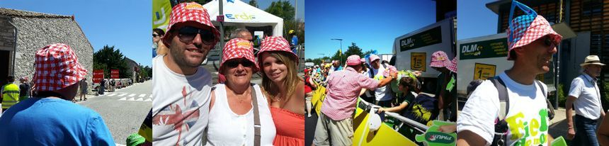 Le bob à carreaux Cochonou est très prisé chaque année par les spectateurs du Tour de France