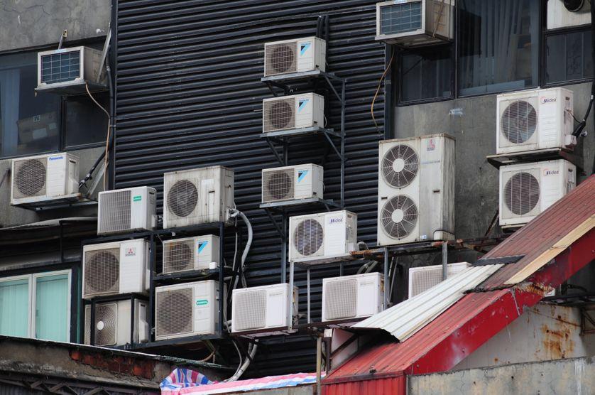 Climatiseurs, à Hong Kong