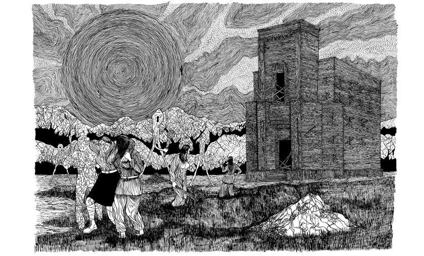 Extrait de Black Medicine Book du dessinateur suisse Helge Reumann