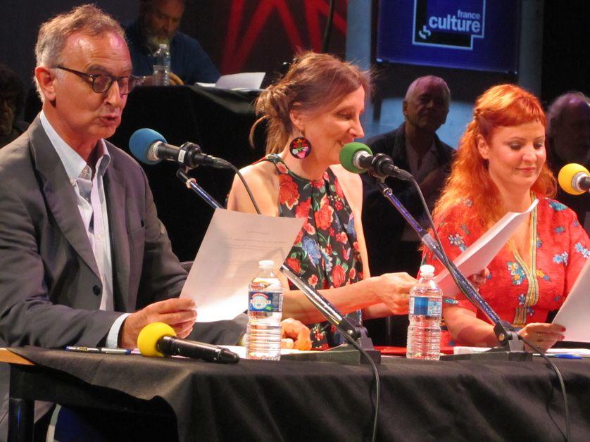 De gauche à droite Lucas Fournier /Eva Almassy / Jehanne Carillon
