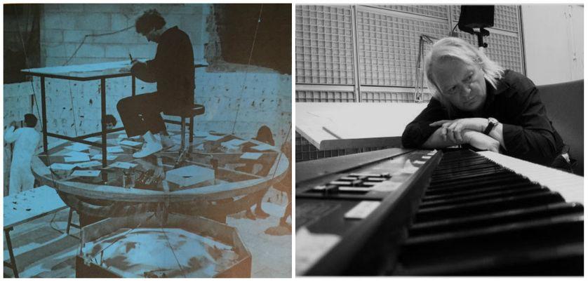 """Valère Novarina, détail, 4e de couverture du catalogue """"Disparaître sous toutes les formes""""; Musée de l'abbaye sainte-croix, photographie de Michel Cormier/Philippe Manoury en août 2010, photographié par Pauline de Mitt"""