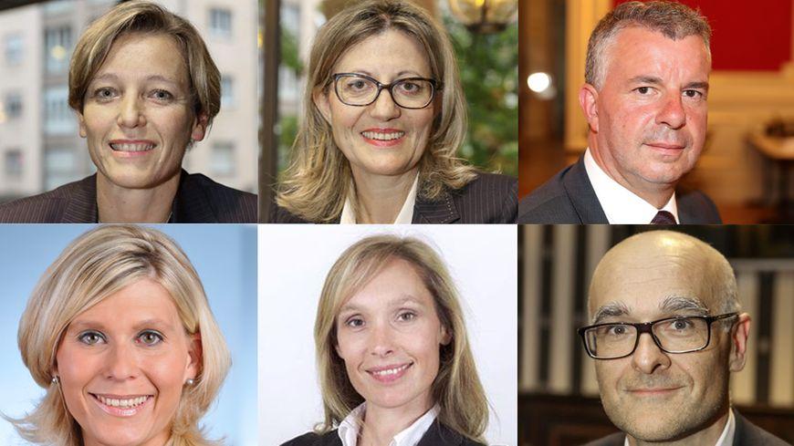 Les visages des six députés de Haute-Savoie, élus dimanche 18 juin.