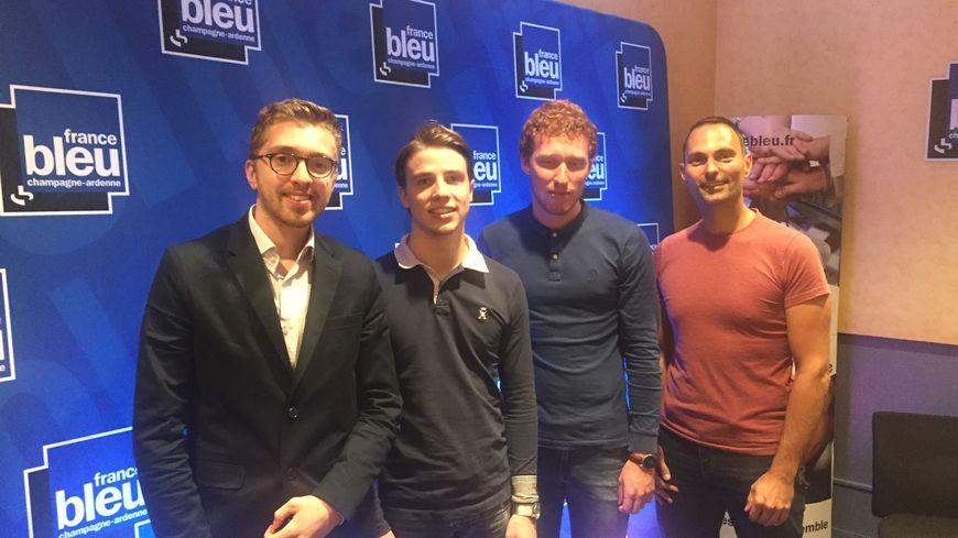 Johan Luttun, Pierre-Alexandre Day, Mayron Beaulieu et Olivier Cattiaux