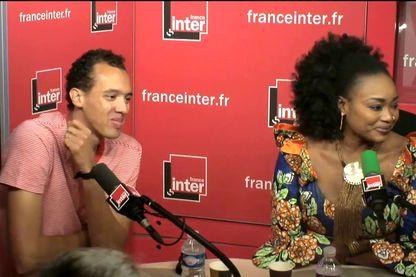 Gaël Faye et Oumou Sangaré quelques heures avant la Fête de la Musique de France Inter à l'Olympia