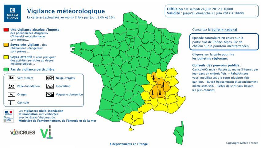 """L'alerte orange """"canicule"""" levée en Pays de Savoie"""