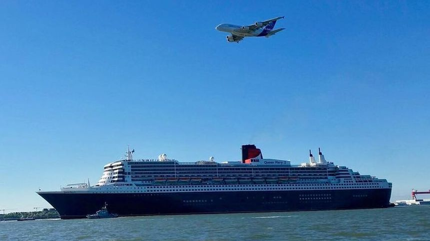 Direction New-York pour le Queen Mary et les Ultimes survolés par un A380