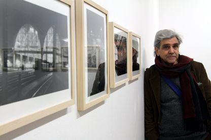 Bernard Plossu le 14 janvier 2014 pendant son exposition à Mulhouse.