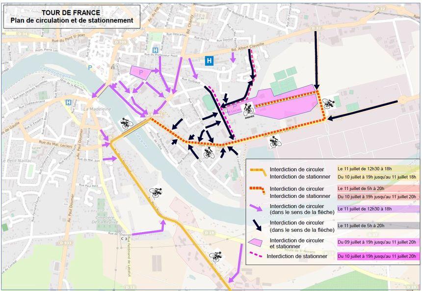 L'accès au centre-ville de Bergerac