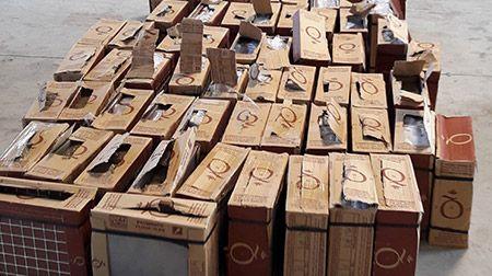Pour l'une des quatre saisies réalisées en 24 heures, 400 kilos de drogue étaient dissimulés dans des palettes de carrelage.