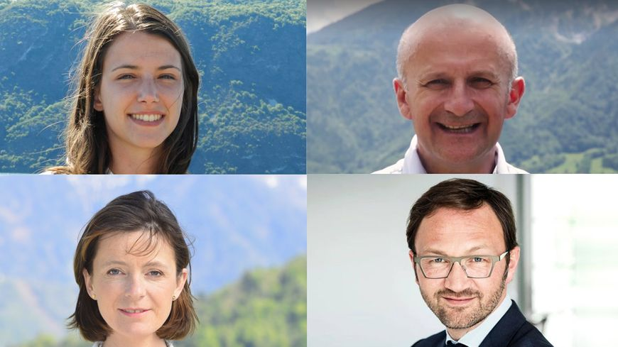 Les visages des quatre députés de Savoie, élus dimanche 18 juin.