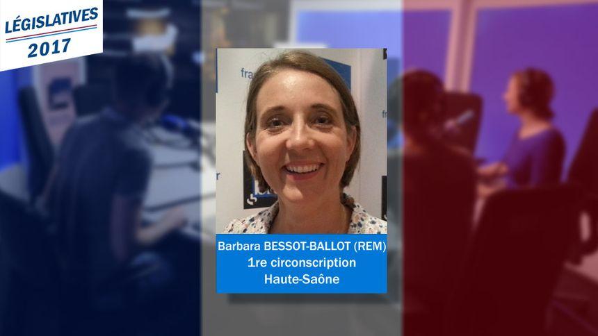La nouvelle député (REM) de la 1re circonscription de Haute-Saône : Barbara Bessot-Ballot.