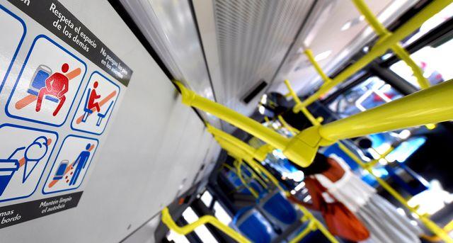 La campagne dans les bus madrilène