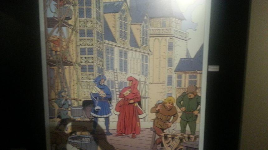 Des dessins originaux de Jean Pleyers, l'auteur de BD, rendent l'exposition abordable pour les enfants. Ils sont très fidèles à la réalité de l'époque.