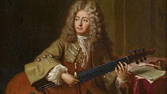 Portrait du musicien Marin Marais en 1704 par André Bouys (1656-1740)