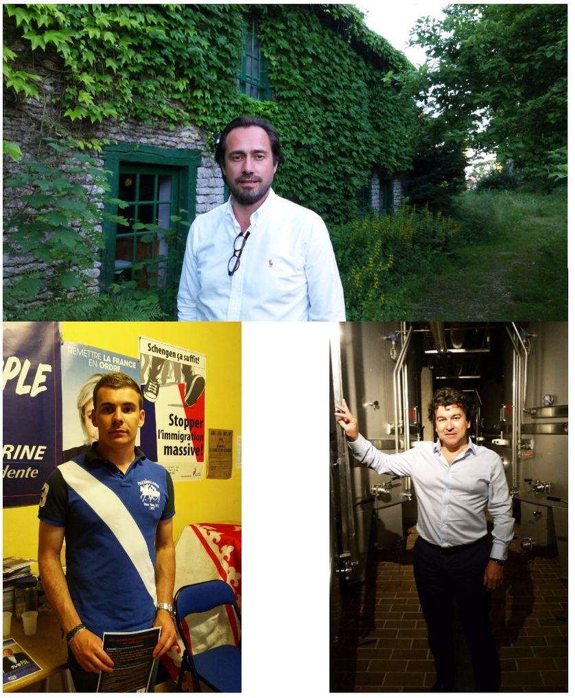 Grégory Besson-Moreau (LREM), Jordan Guitton (FN) et Nicolas Dhuicq (LR)