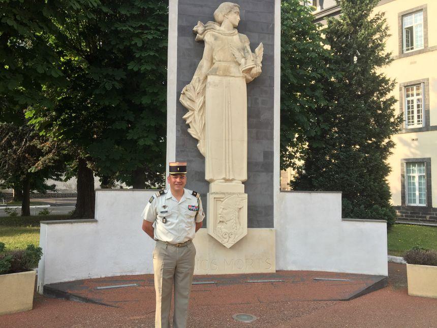 Le lieutenant-colonel Rozier, commandant du 92ème RI