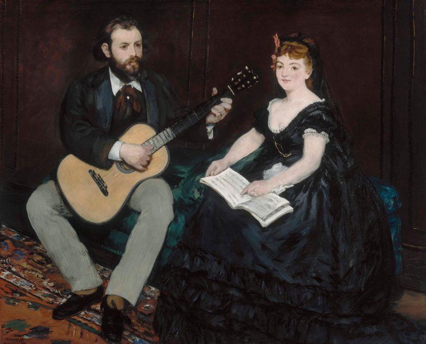 La Leçon de musique, 1870