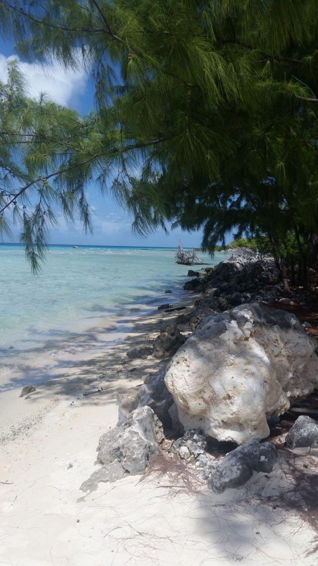 Plage de l'archipel des Tuamotu