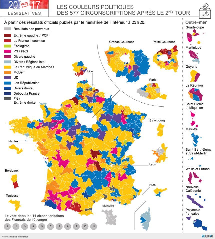 La nouvelle carte des circonscriptions françaises.