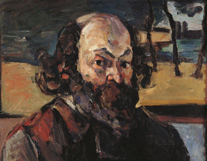 """""""Autoportrait"""", détail. Peinture de Paul Cézanne. (env. 1875)"""