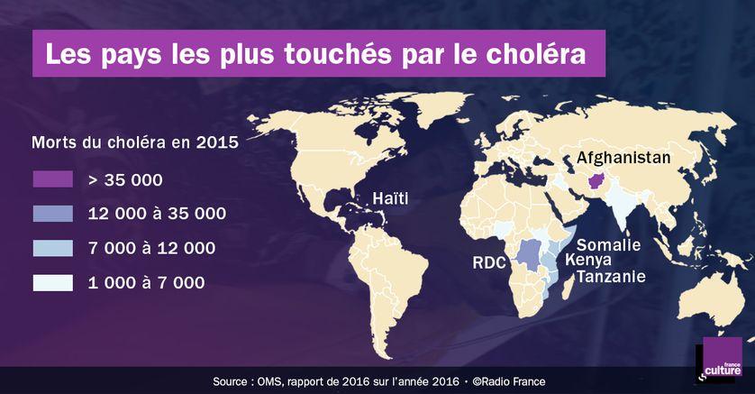 Les morts du choléra dans le monde (en 2015)