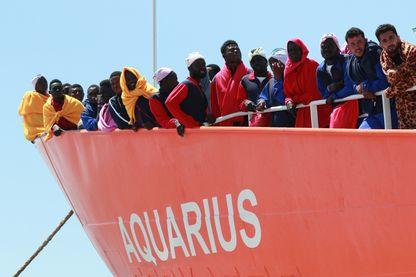 Reportage à bord de l'Aquarius