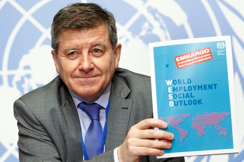Guy Ryder, le  10e Directeur général de l'Organisation internationale du travail (OIT). Il a auparavant été secrétaire général de la Confédération syndicale internationale (2006-2010). Il est britannique.