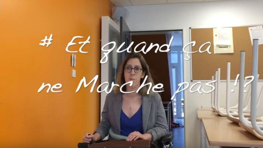 Cette prof de français des Yvelines rappelle au président ses promesses sur le handicap