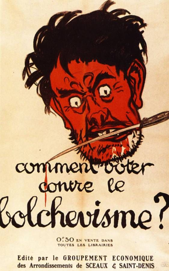 Clemenceau Fait Campagne Sur Le Thème De La Menace Du Bolchevisme.