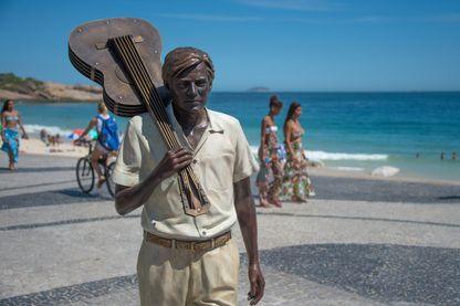 Statue du musicien Antônio Carlos Jobim à Rio de Janeiro (Brésil)