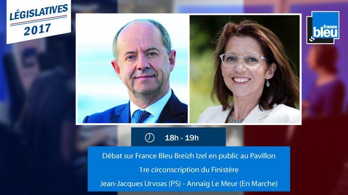 Le débat se déroule en direct et en public du Pavillon, à Quimper