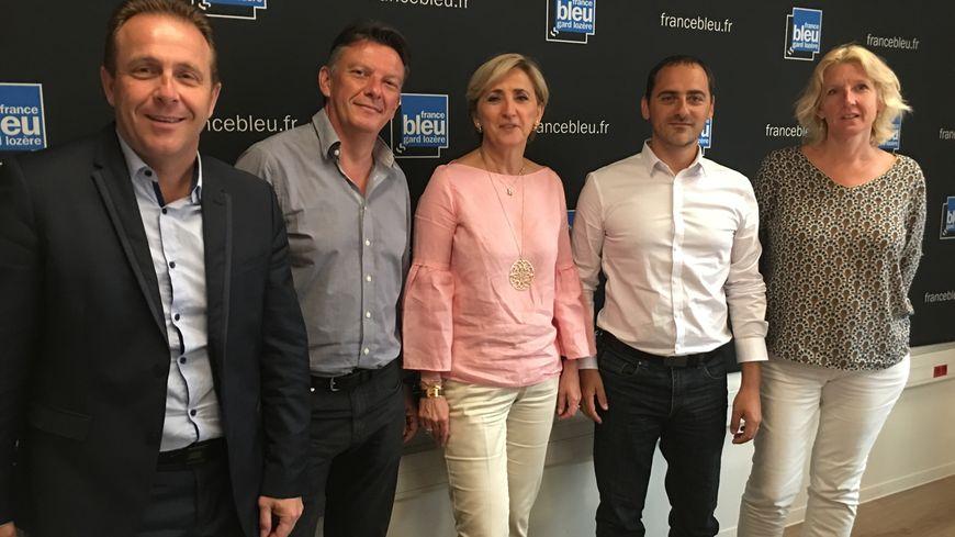 Les cinq députés LREM du Gard (O.Gaillard / P.Berta/ F.Dumas/ A. Cellier/ A. Chapelier