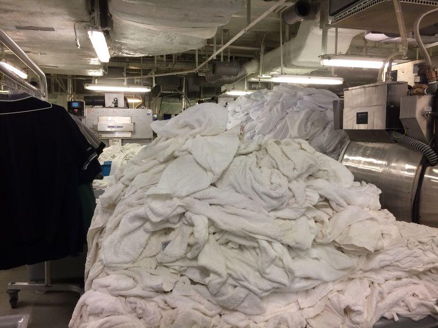 La blanchisserie fonctionne 24 heures sur 24