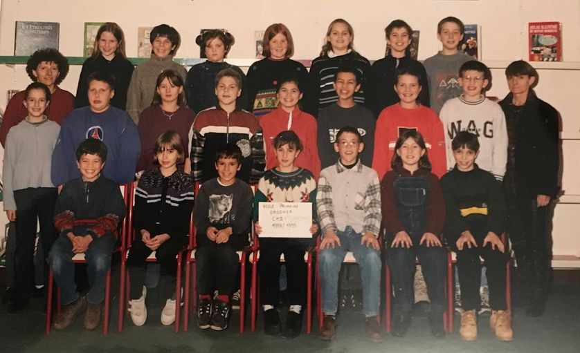 La seconde photo de classe - CM2 (Michel Ordener) de Mme Cascarret