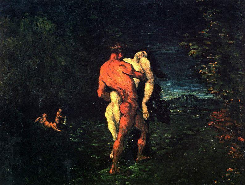 L'Enlèvement. Tableau de Paul Cézanne (1867)