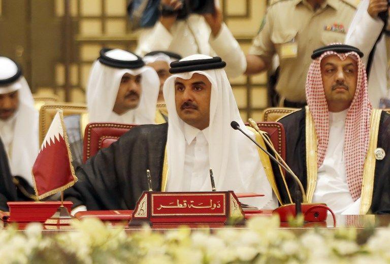 Tamim ben Hamad Al Thani, émir du Qatar. Soutien des Frères musulmans, ennemi de l'Arabie Saoudite, le Qatar est au centre des tensions diplomatiques du Moyen-Orient