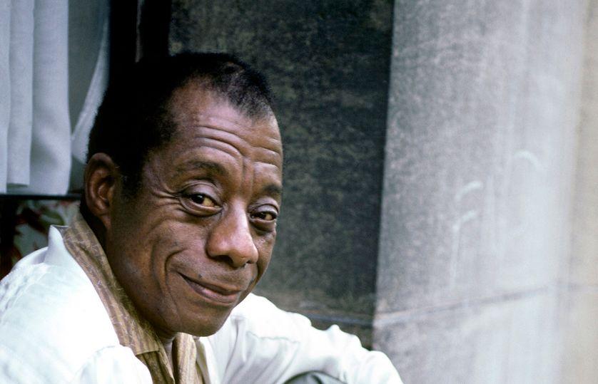 James Baldwin, chez lui à Saint Paul de Vence, en 1985