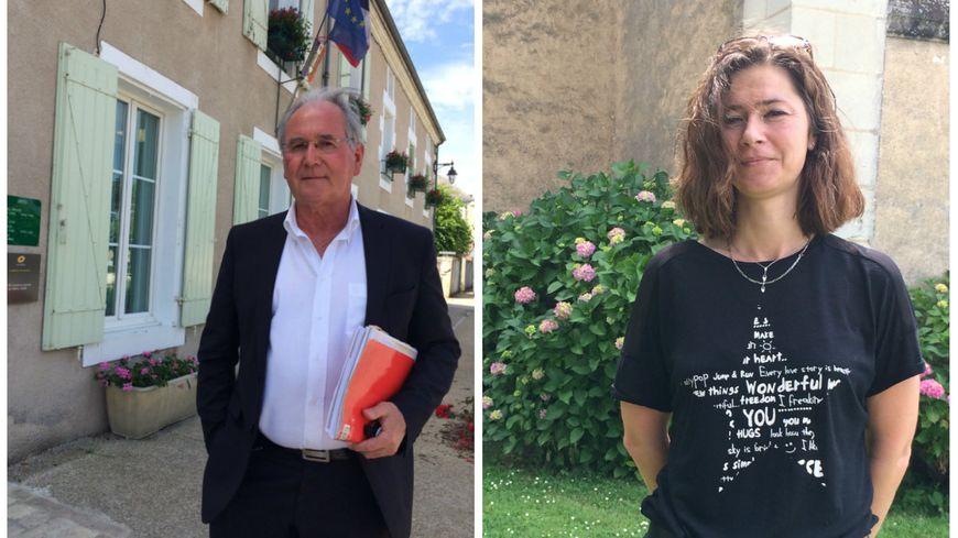 Jean-Michel Clément (LREM), député sortant PS, et Delphine Jumeau (FN)