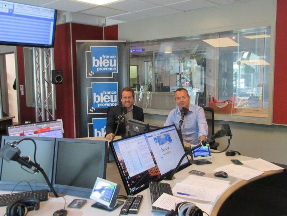 Vincent Parisot, directeur communication Orange et Fabrice Marion