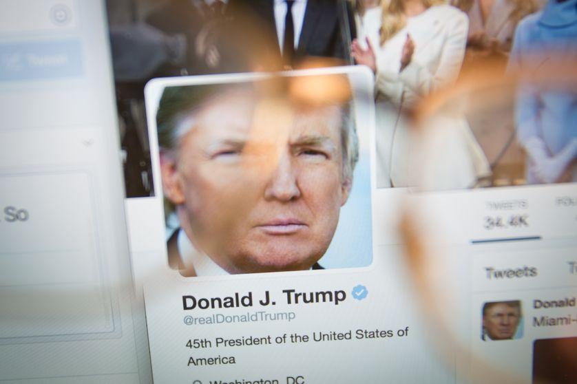 Capture d'écran d'un faux compte Twitter au nom de Donald Trump